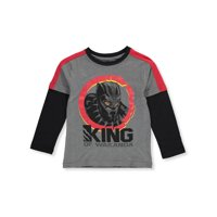 Marvel Black Panther Boys' King of Wakanda L/S Top - gray, 7