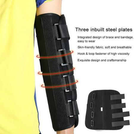 Yosoo Articulation du coude du membre supérieur respirable de style hiver corrigeant le support d'attelle de bras, attelle de bras, attelle au coude - image 3 de 6