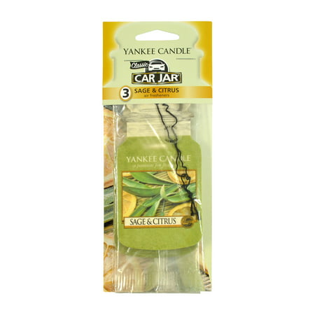 Yankee Candle Paper Car Jar Hanging Air Freshener Sage & Citrus Scent -3
