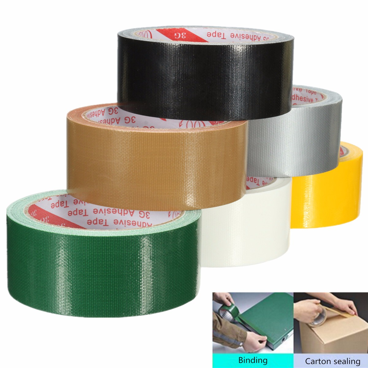 1Pcs Waterproof Adhesive Cloth Performance Repair Tape Self Adhesive Tape Packaging Tape Duct Pipe Wrap Carpet glueamptape Fixing Insulating