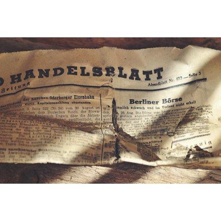 Framed Art for Your Wall Font Daily Newspaper Handelsblatt Newspaper 10x13 Frame