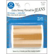 Coats Dual Duty Extra Strong Golden Thread for Jeans, 70 Yd.