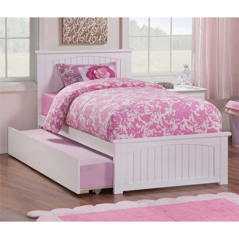 Rosebery Kids Urban Twin Platform Bed with Trundle in ...
