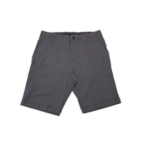 Iron Co. Mens Size 40 Comfort Flex Waistband Stretch Flat Front Shorts, Grey Stone