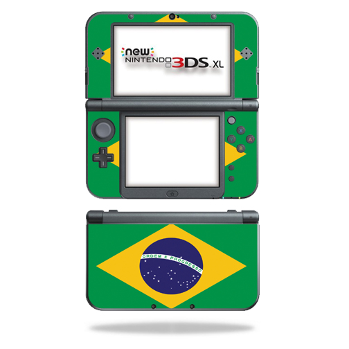 MightySkins Protective Vinyl Skin Decal for New Nintendo 3DS XL (2015) cover wrap sticker skins Brazilian Flag