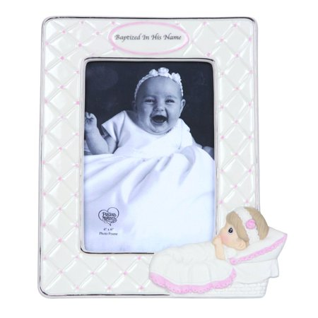 - Precious Moments Baptized In His Name Bisque Porcelain Photo Frame Girl 143400