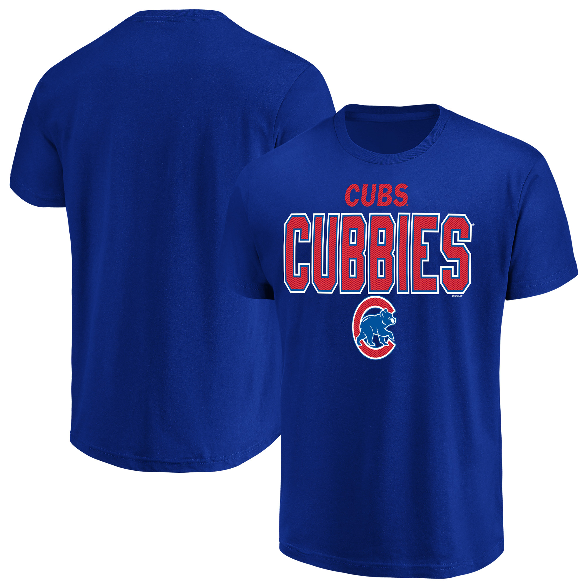 Men's Majestic Royal Chicago Cubs Alias T-Shirt