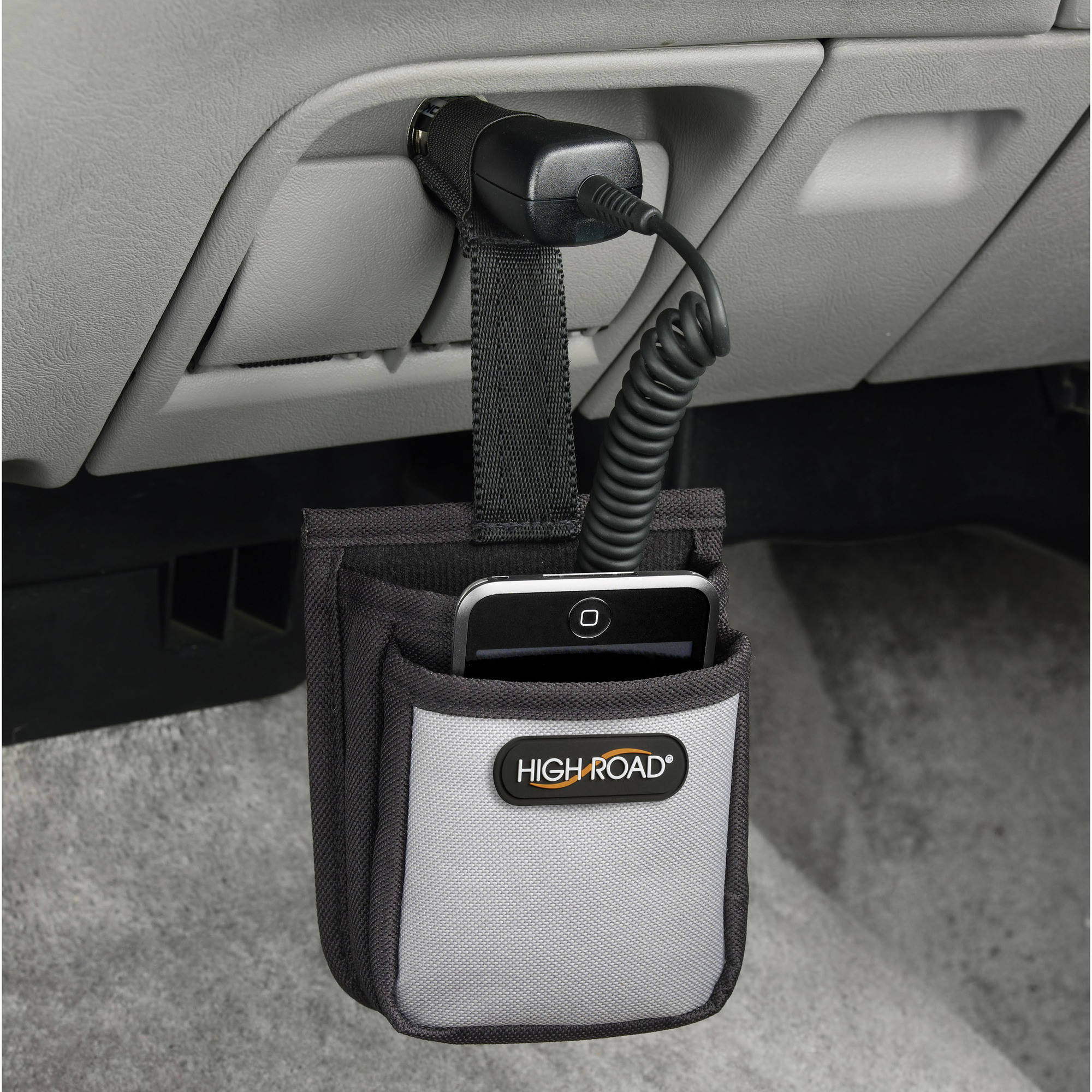 High Road Car Charging Cord Phone Caddy
