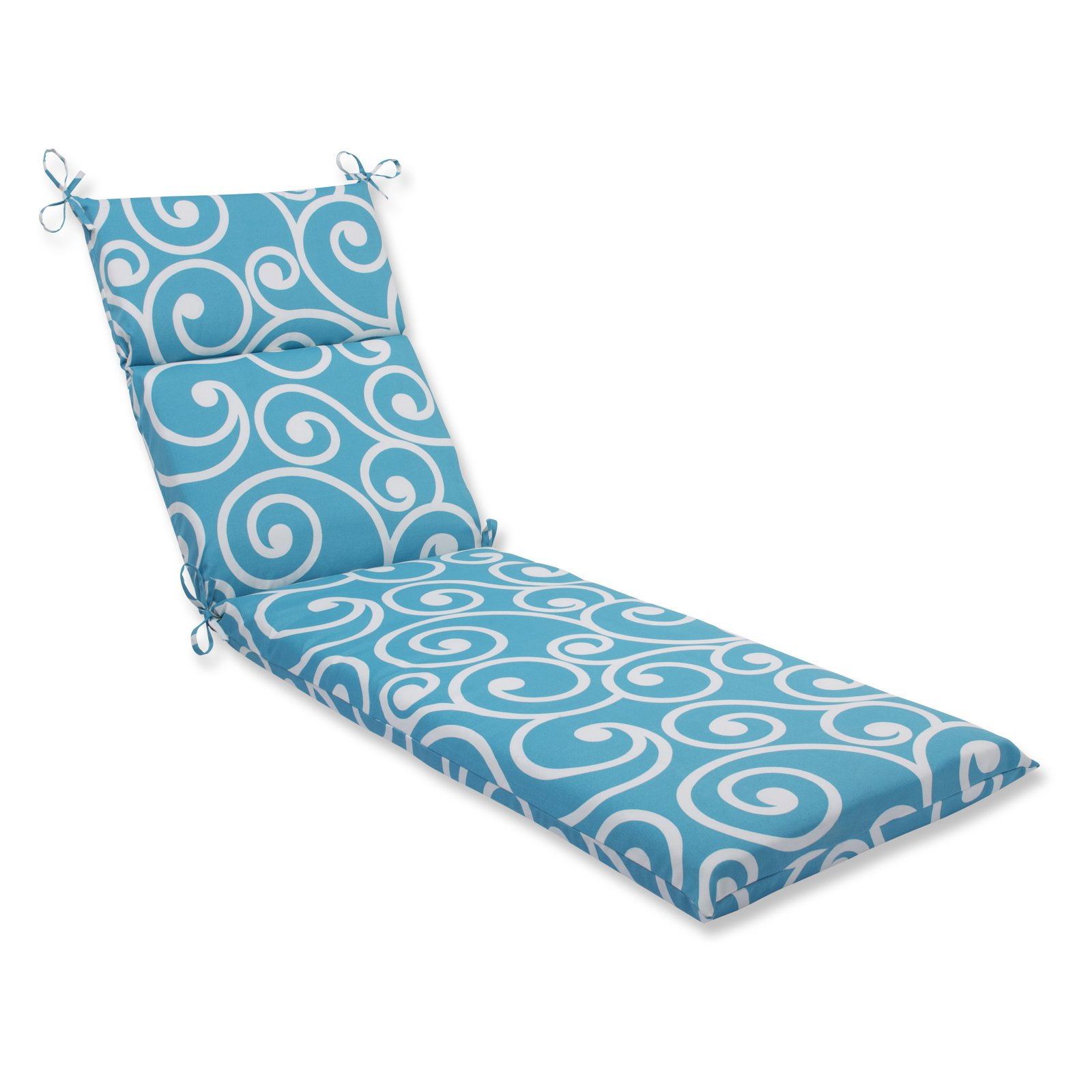 Pillow Perfect Outdoor/ Indoor Best Turquoise Chaise Lounge Cushion