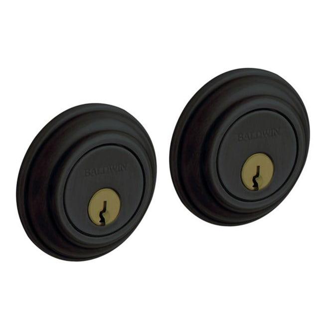 Baldwin 8232.190 Traditional Double Cylinder Deadbolt, Satin Black
