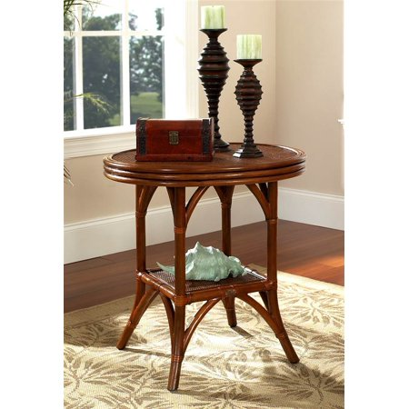 Regency Occasional Rattan Table in Urban Mahogany