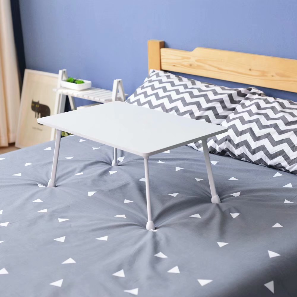Folding Laptop Desk for Bed with Slot 60*36*28CM M1#Z White