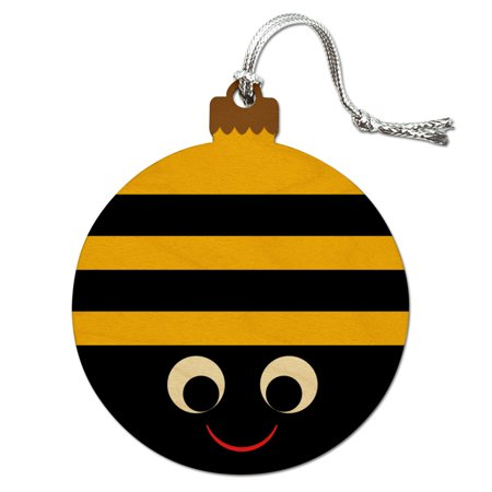 Bumble Bee Party Girl Birthday Wood Christmas Tree Holiday Ornament](Birthday Money Tree)