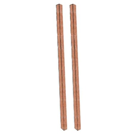 Aarco Products  Inc. DPP-5 Cedar Plastic Lumber Post Set 4 in. x 4 in. x 120
