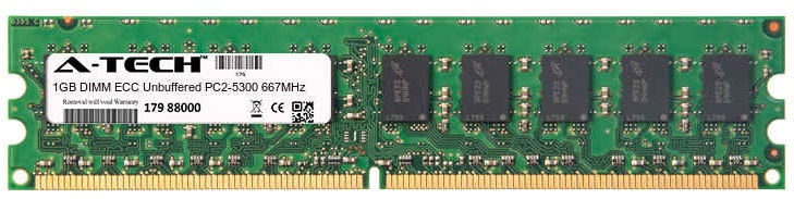 1GB Module PC2-5300 667MHz ECC Unbuffered DDR2 DIMM Server 240-pin Memory Ram