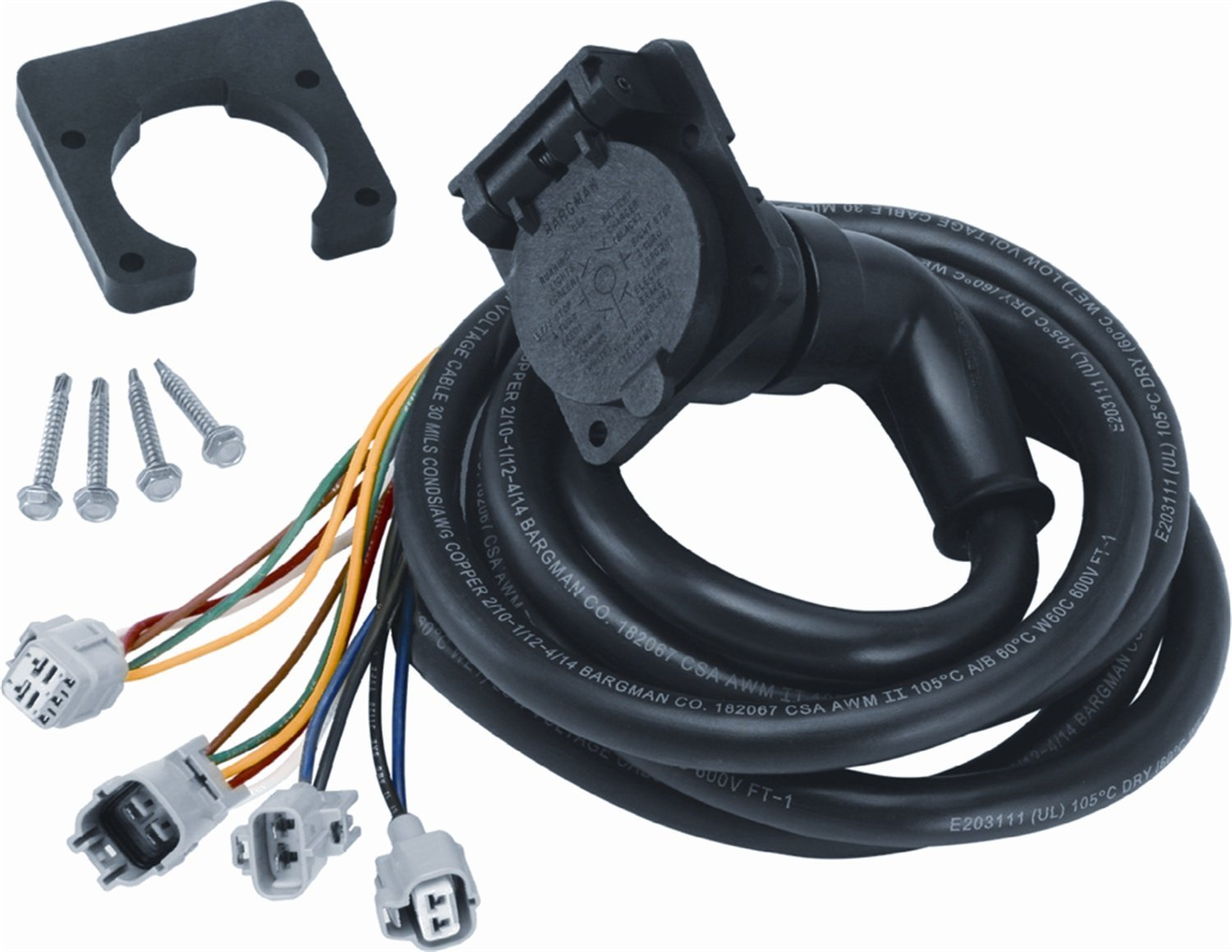 Installing A Fifth Wheel Wiring Harness Electrical Diagrams 90 Degree Adapter 7 Way Flat Pin Connector Oem Connectors
