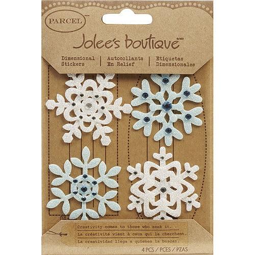 Jolee's Christmas Stickers, Fun Felt Snowflakes