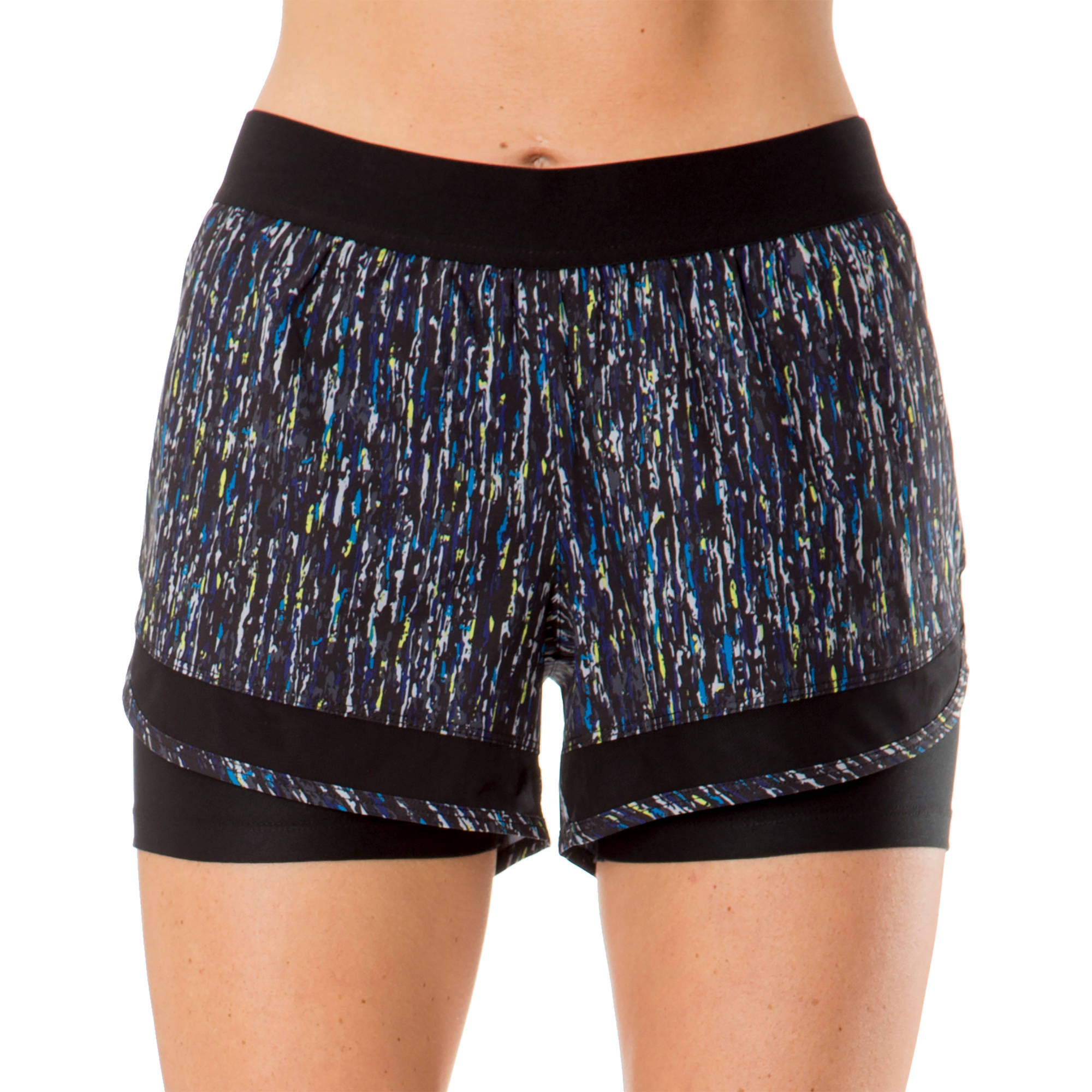 Impact by Jillian Michaels Women's Performance Double - Layer Workout Short With Power - Mesh Lining