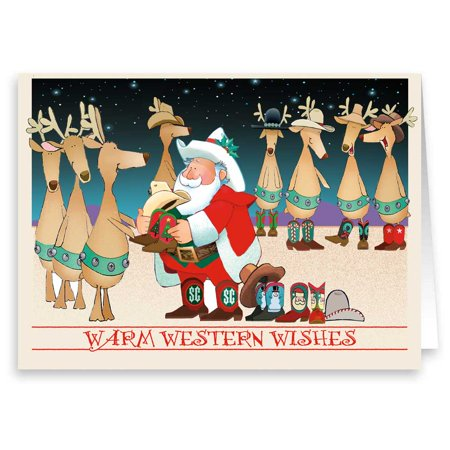 Western Holiday Wishes Christmas Card - Holidays Cards - 18 Cards and 19 Envelopes ()