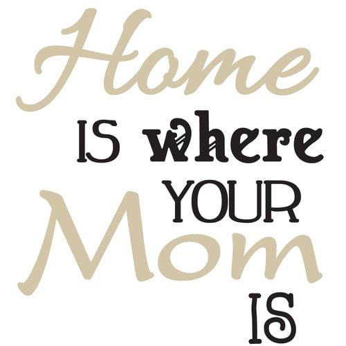 The Decal Guru Home is Where Mom is Wall Decal