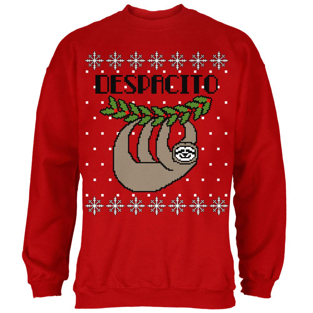 Despacito Means Slowly Sloth Funny Ugly Christmas Sweater Mens Sweatshirt