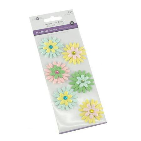 Self Adhesive Paper Flowers 3D, 1-1/2-inch, 6-count, Luau](Luau Flowers)