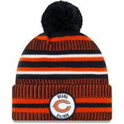 Chicago Bears New Era 2019 NFL Sideline Home Official Logo Sport Knit Hat - Navy/Orange - OSFA