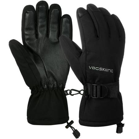 Gloves, Thickened Winter Gloves Warm Gloves Cold Weather Gloves Splash-proof Sports Gloves for Men and Women, Adjustable Buckle, Elastic Wrist Strap,