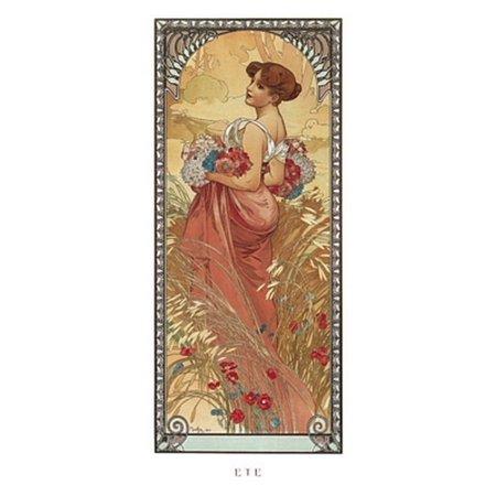 Ete 1900 Poster Print by Alphonse Mucha (9 x 20)
