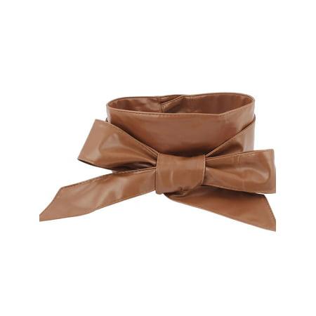 Unique Bargains Lady Dress Wrap Around Self Tie Waistband Waistbelt Waist Belt Strap Band Camel