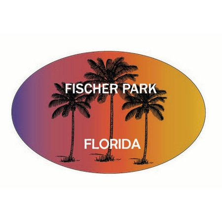 Fischer Park Florida Trendy Souvenir Oval Decal - Fischer Park Halloween