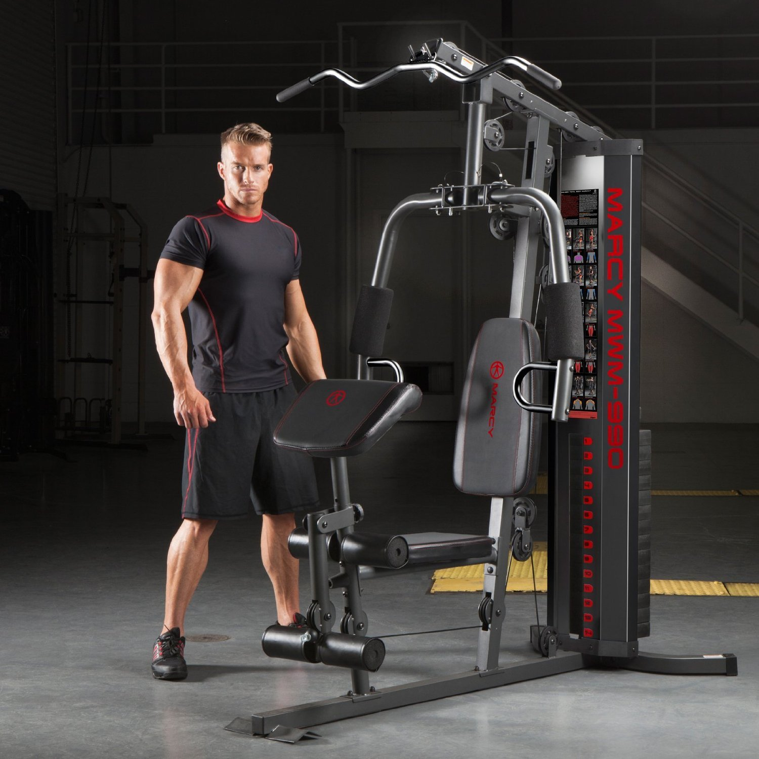 Marcy Dual-Functioning Upper And Lower Body 150-Pound Stack Home Gym | MWM-990