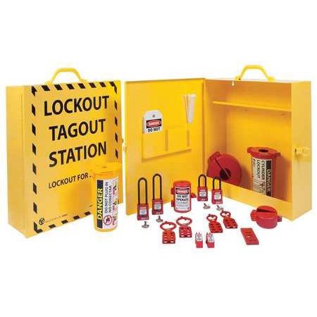ZING 6062 Lockout Station,Electrical,18 In H (Electrical Locknut)