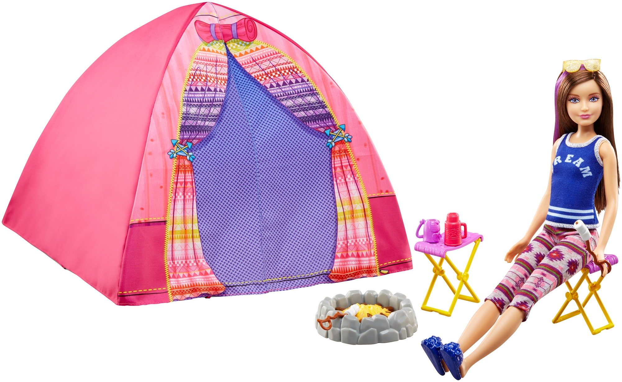 Barbie C&ing Fun Skipper Doll and Tent Playset  sc 1 st  Walmart & Barbie Camping Fun Skipper Doll and Tent Playset - Walmart.com