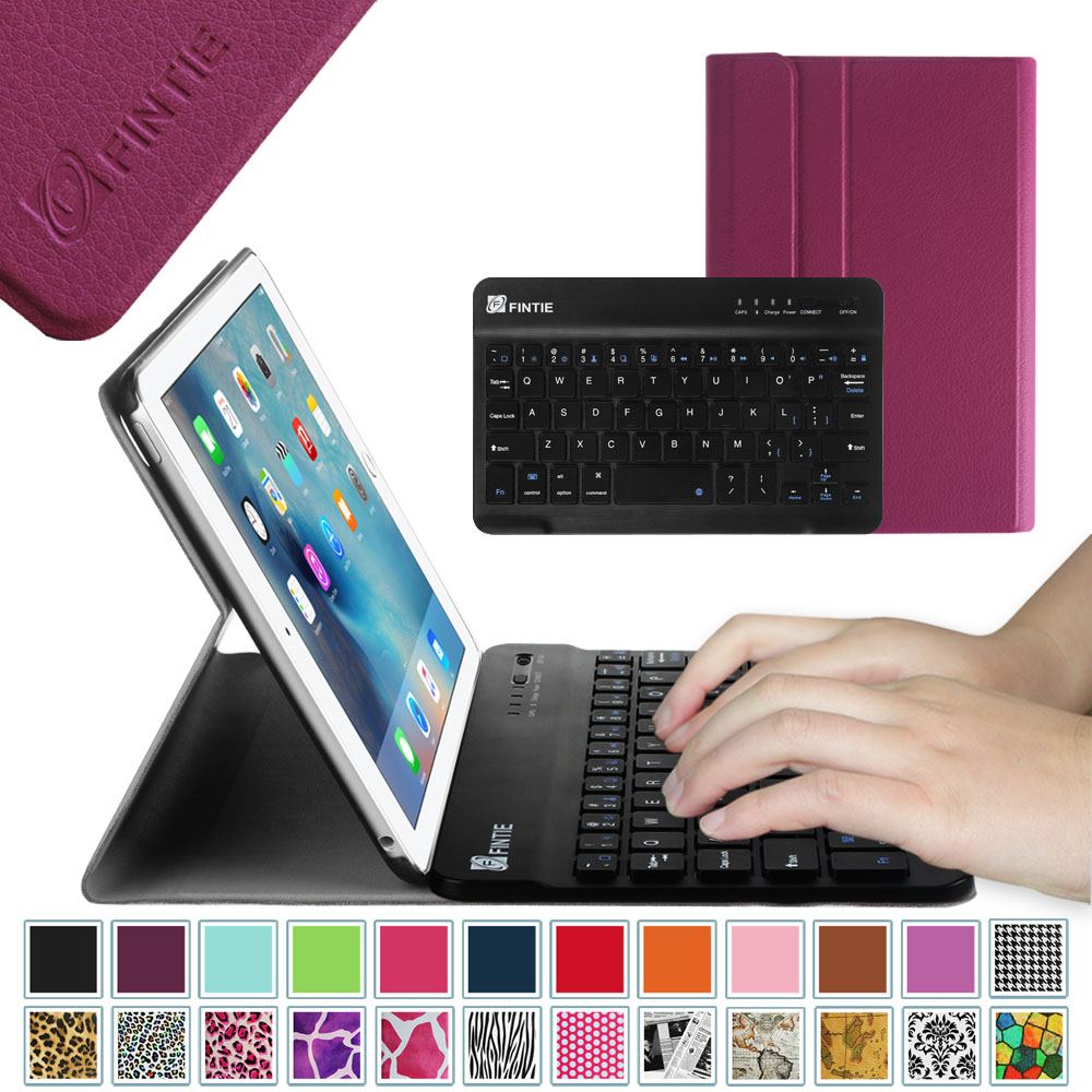 Fintie iPad mini 4 Case - Shell Lightweight Cover with Detachable Wireless Bluetooth Keyboard, Purple
