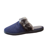 Isotoner Women's Microsuede Quilted Clog w/ Faux Fur Trim