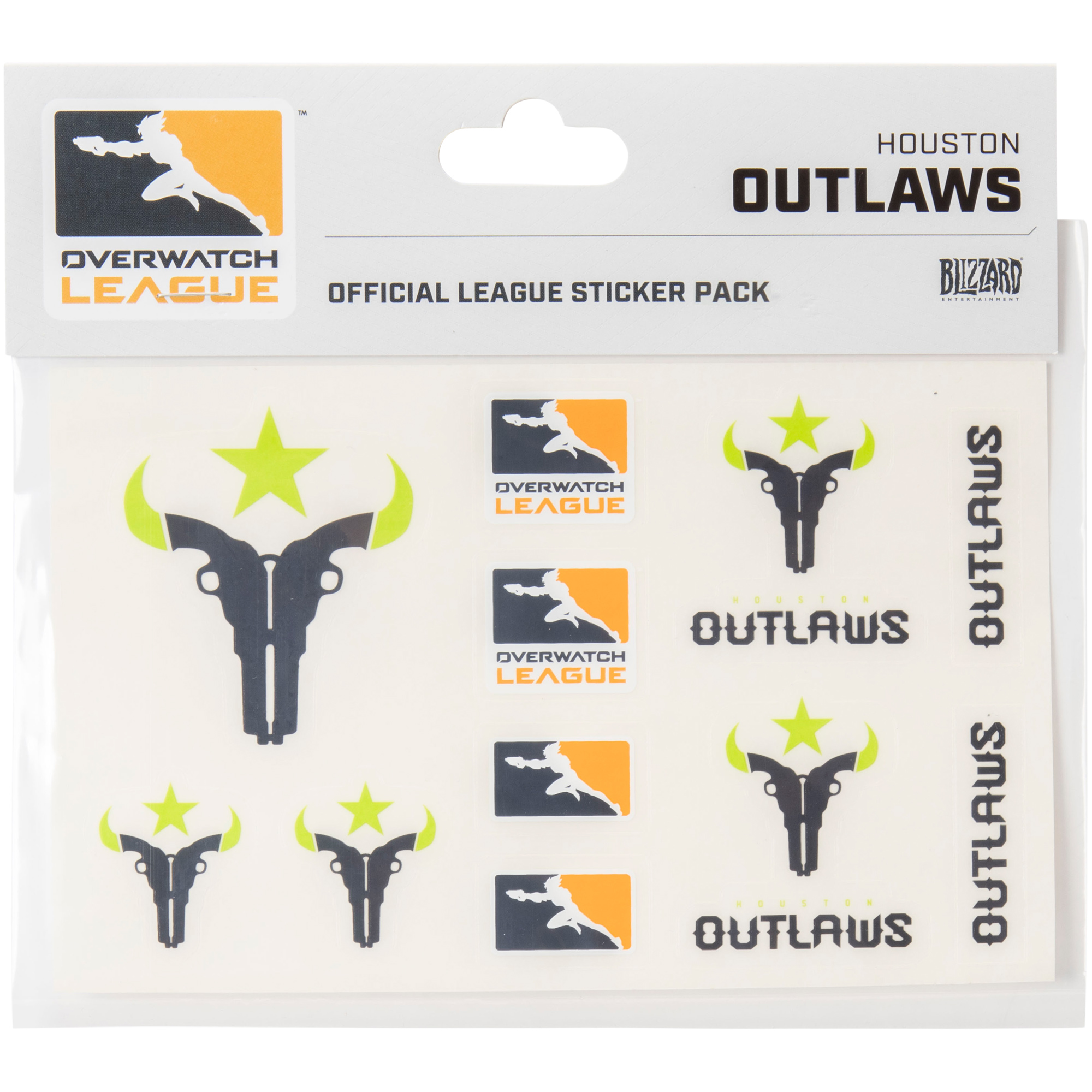 Houston Outlaws Overwatch League 10-Pack Team Car Stickers - No Size