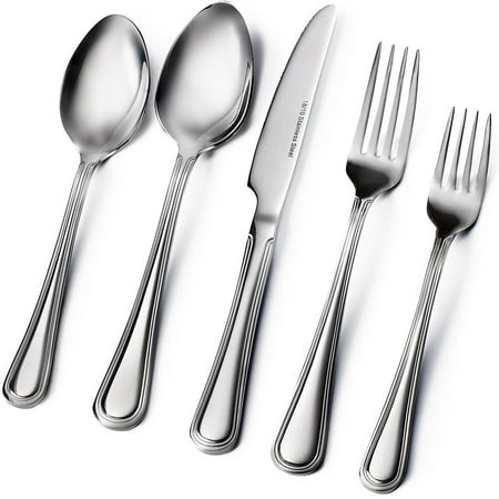 20-Piece Flatware Set - Extra Thick Heavy Duty - 18/10 Stainless Steel Silverware Sets Set For 4 Flatware Sets
