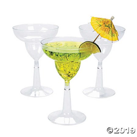 Clear Plastic Margarita Glasses ()