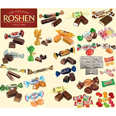 Premium Ukrainian Assorted Candy and Chocolate Mix from Roshen. 2 lb. (23 types of different candy) Includes Our Exclusive HolanDeli Chocolate Mints