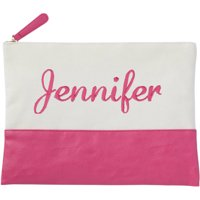 Personalized Or Monogram Canvas Cosmetic Bag, Available In Different Fonts