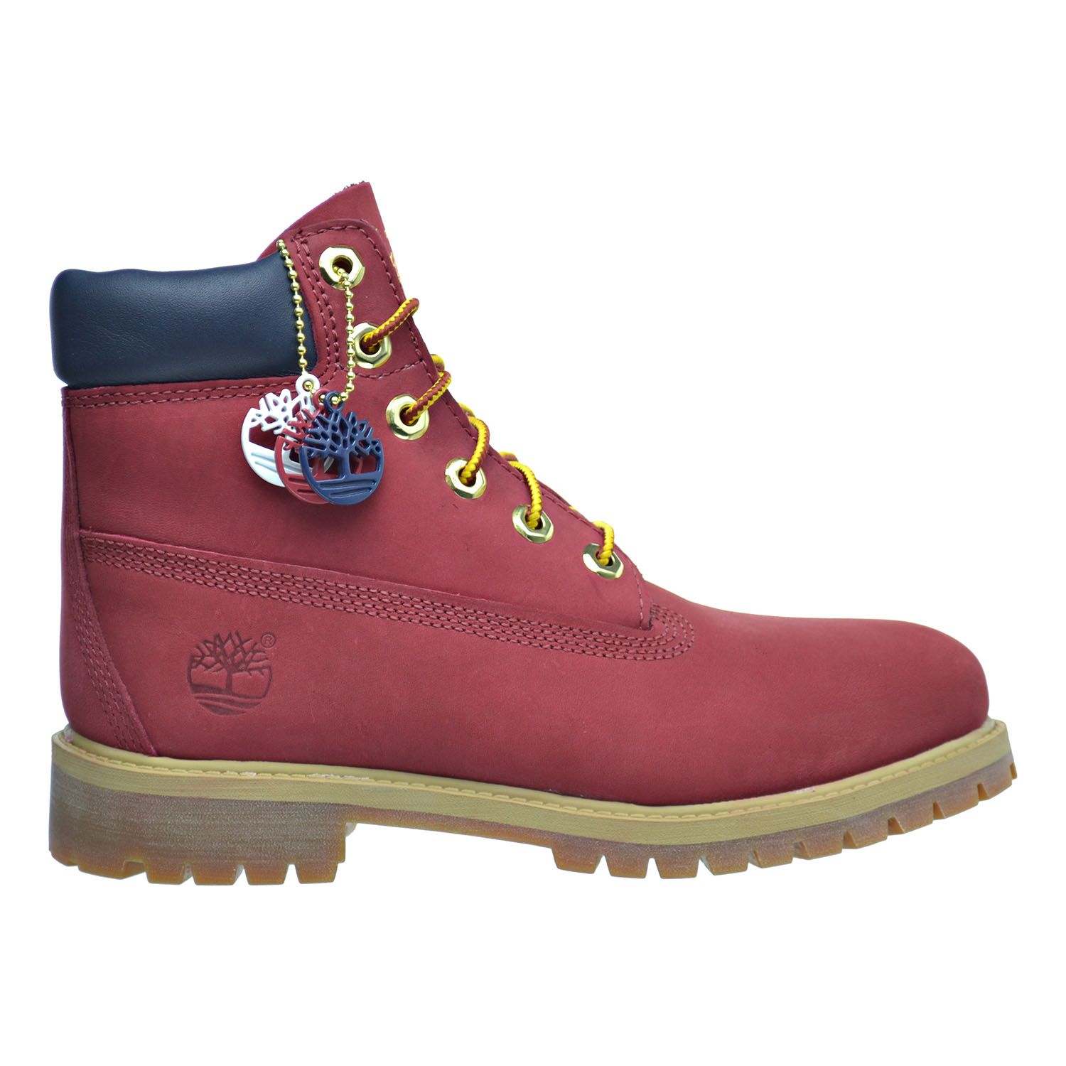 "Timberland 6 Inch Premium ""Patriotic Red"" Big Kid's Boots Red tb0a1fnp by Timberland"