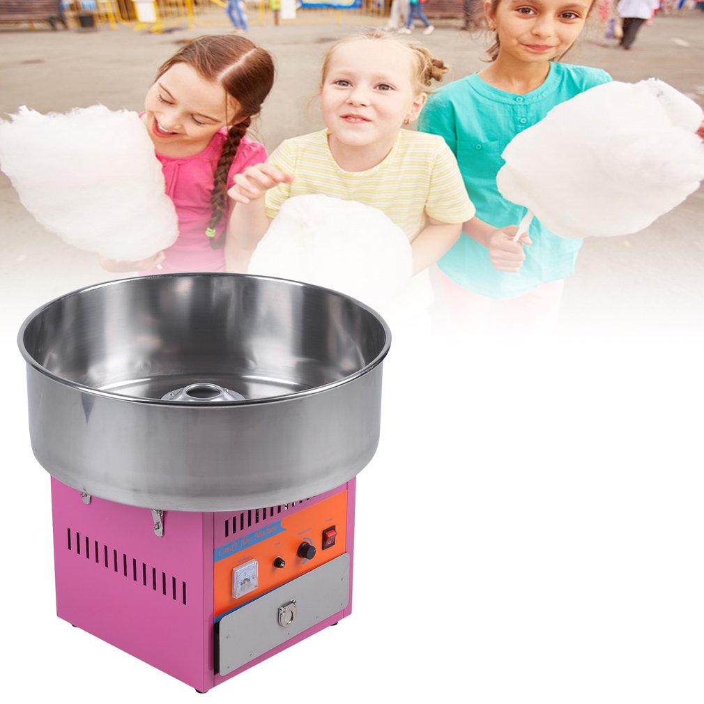 Full Automatical Commercial Cotton Candy Maker Machine Electric Cotton Candy Floss Machine For Gathering Parties US Plug