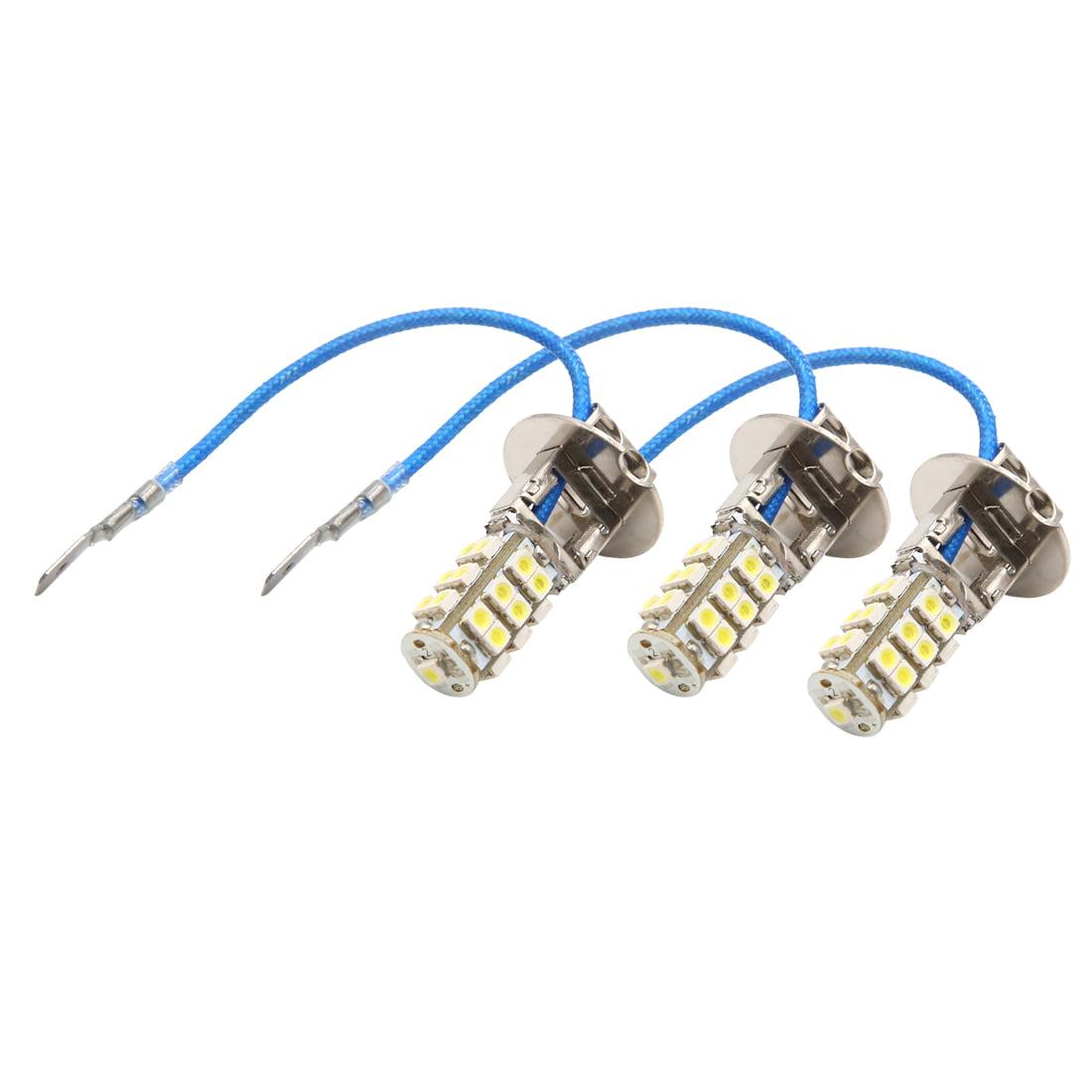 3Pcs 12V H3 White 25 SMD  Foglight Headlight Driving Light Lamp Bulb for Car