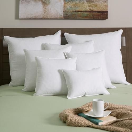 European Heritage White Goose Down and Feather Decor Pillow Insert (Set of 2) by Overstock
