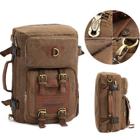 Meigar Men Retro Canvas Shoulder Bag Travel Tactical Backpack - image 9 de 9