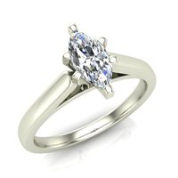 8edf42313 Product Image Marquise Cut Solitaire Diamond Engagement Ring 14K White Gold  1/4 ctw (I,