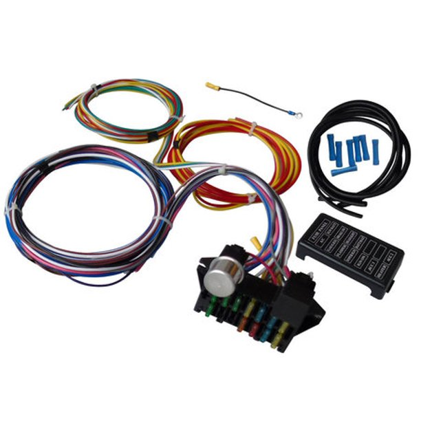 12 CIRCUIT UNIVERSAL WIRE HARNESS MUSCLE CAR HOT ROD STREET ROD NEW LONG  WIRES - Walmart.com - Walmart.comWalmart.com
