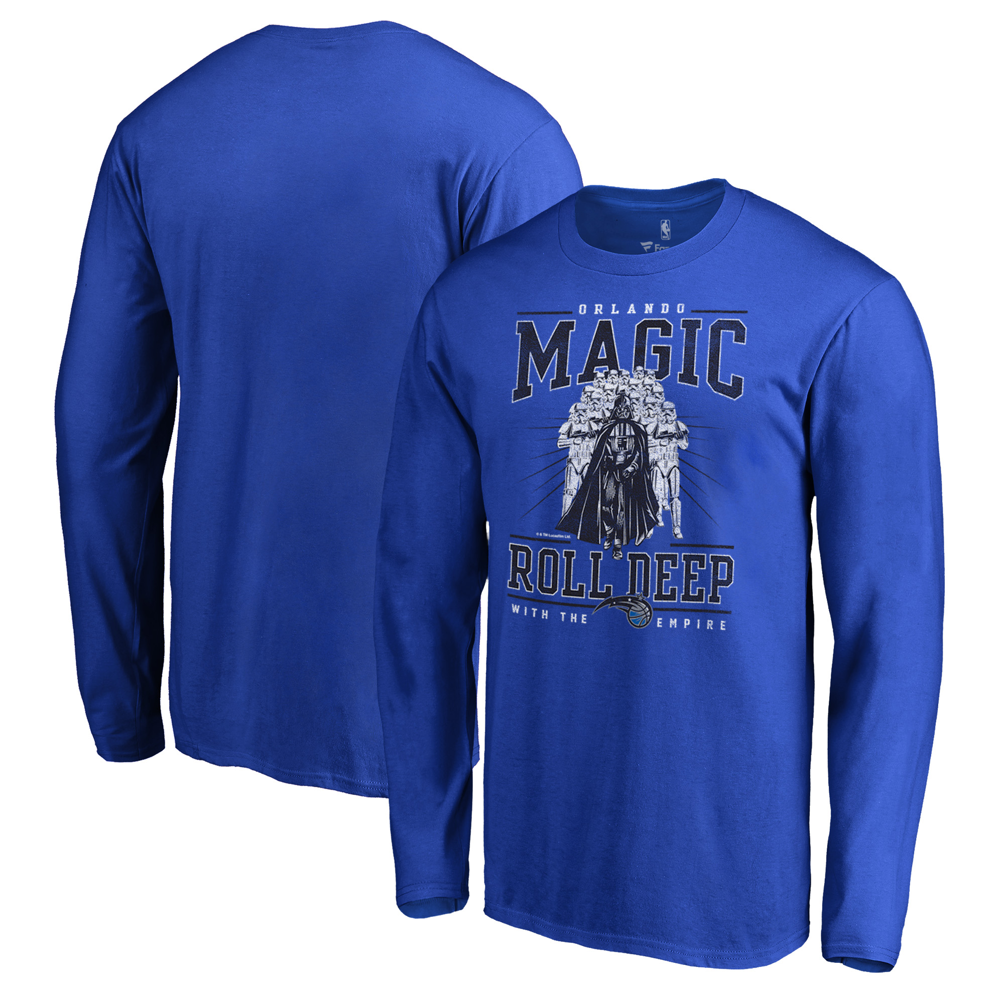 Orlando Magic Fanatics Branded Star Wars Roll Deep with the Empire Long Sleeve T-Shirt - Royal
