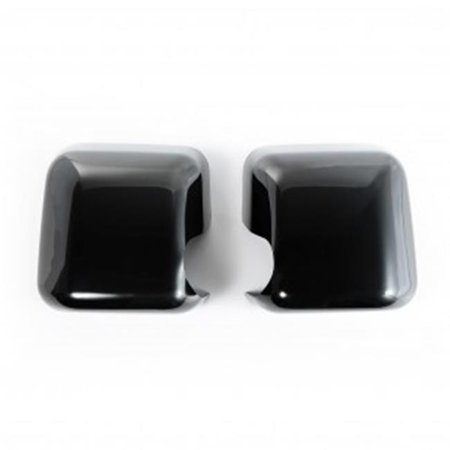 Paintable Mirror Covers for 07-16 Jeep Wrangler JK, Black ()